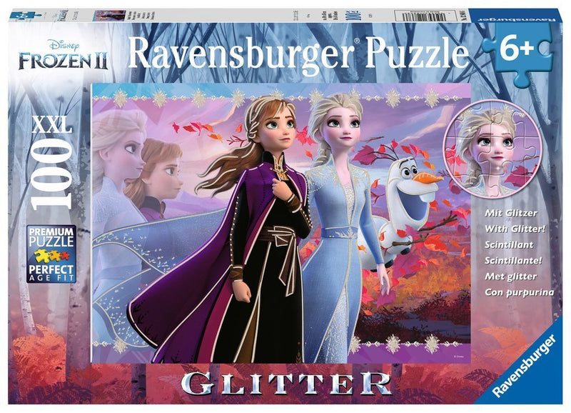 Ravensburger Puzzles - 2 Strong Sisters Glitter  100 Pc pieces