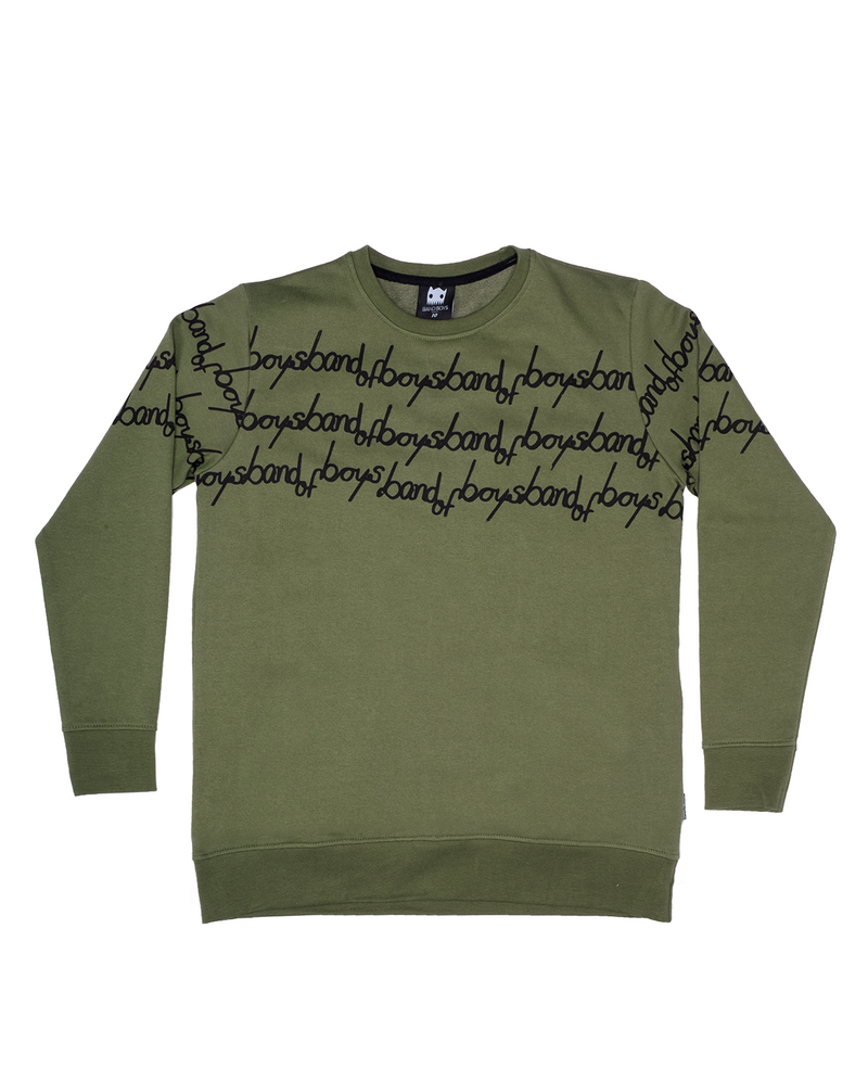 Band of Boys band of stripes bandits jumper in classic green