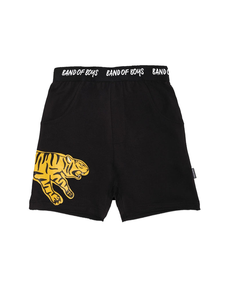 Band of Boys shorts Pouncing Tiger in black