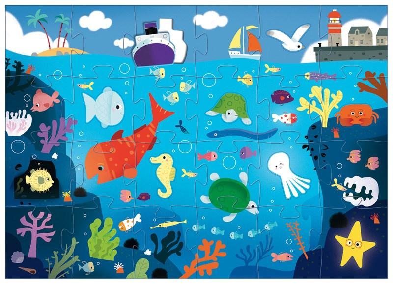 Djeco - Under the Sea - Puzzle - 32 pce