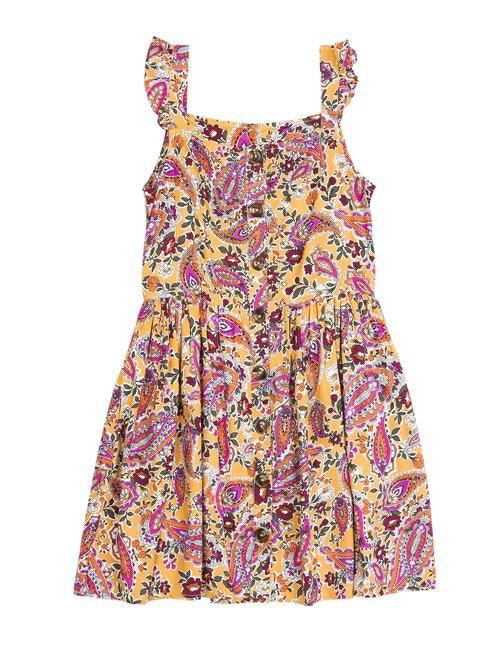 Eve Girl Wanderer Dress in multi colour print