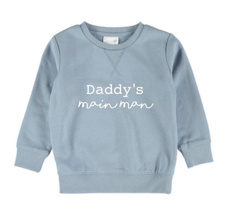 Daddy's Mainman Jumper - Powder Blue