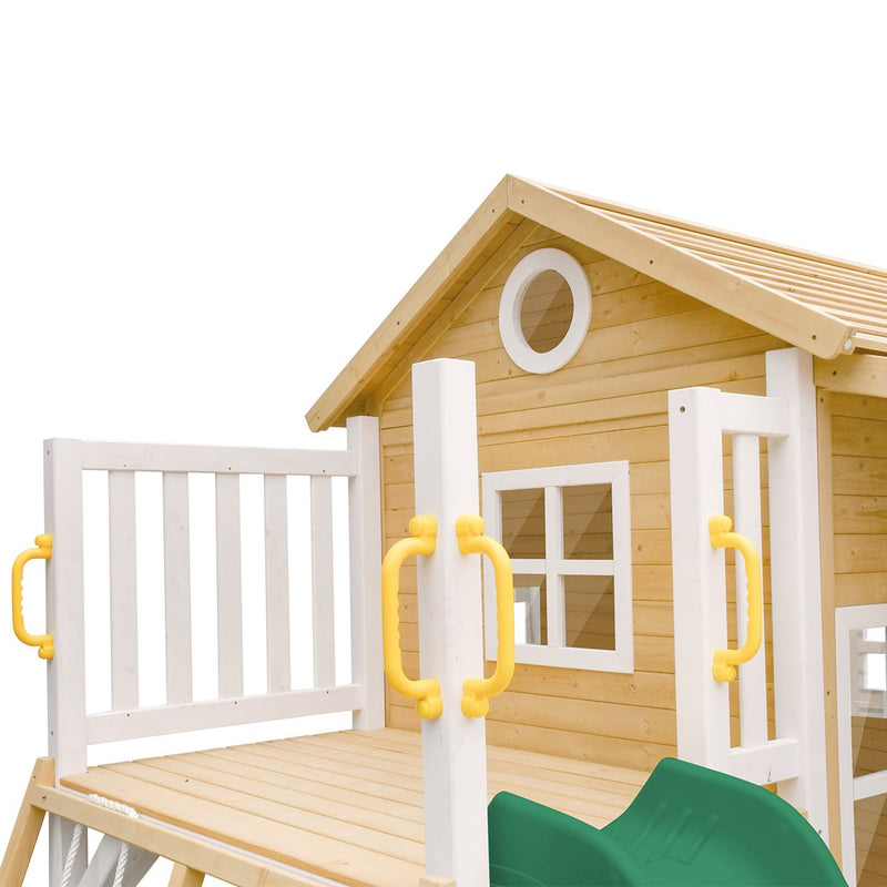 Finley Cubby House with Green Slide