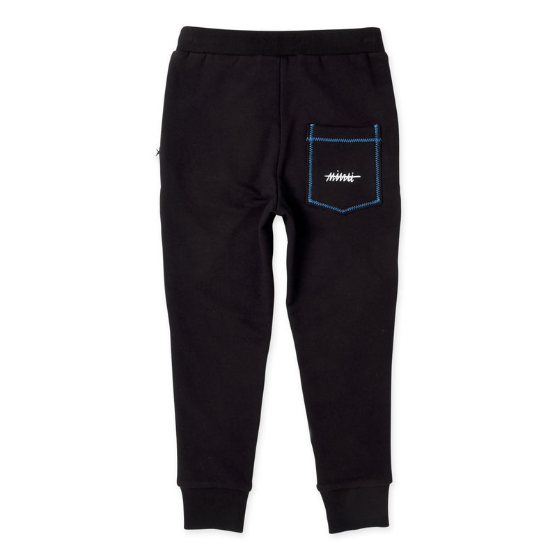 Minti ultimate furry kids tracksuit pants in black