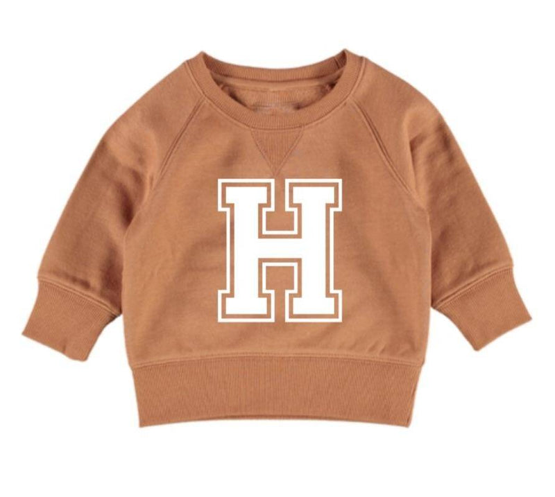 Personalised Varsity Jumper - Burnt Orange