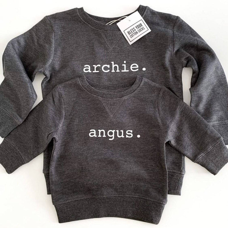 Personalised Name Jumper - Charcoal