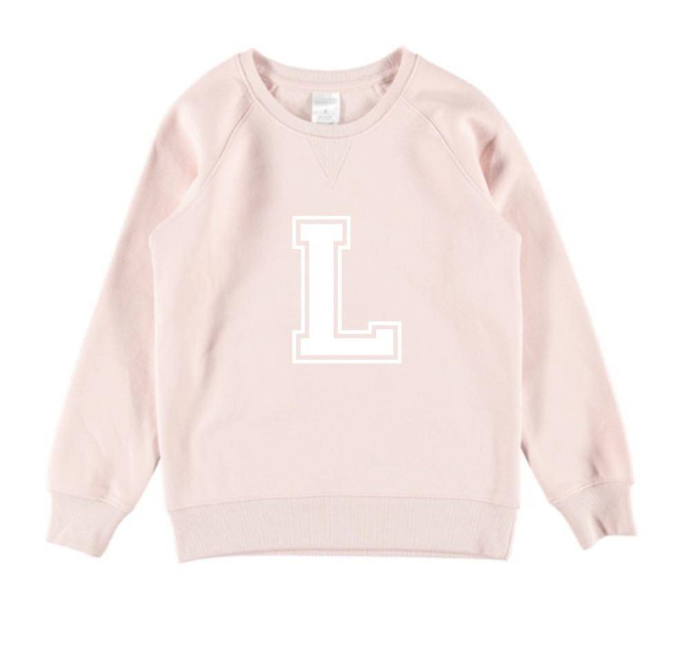 Personalised Varsity Jumper - Pale Pink