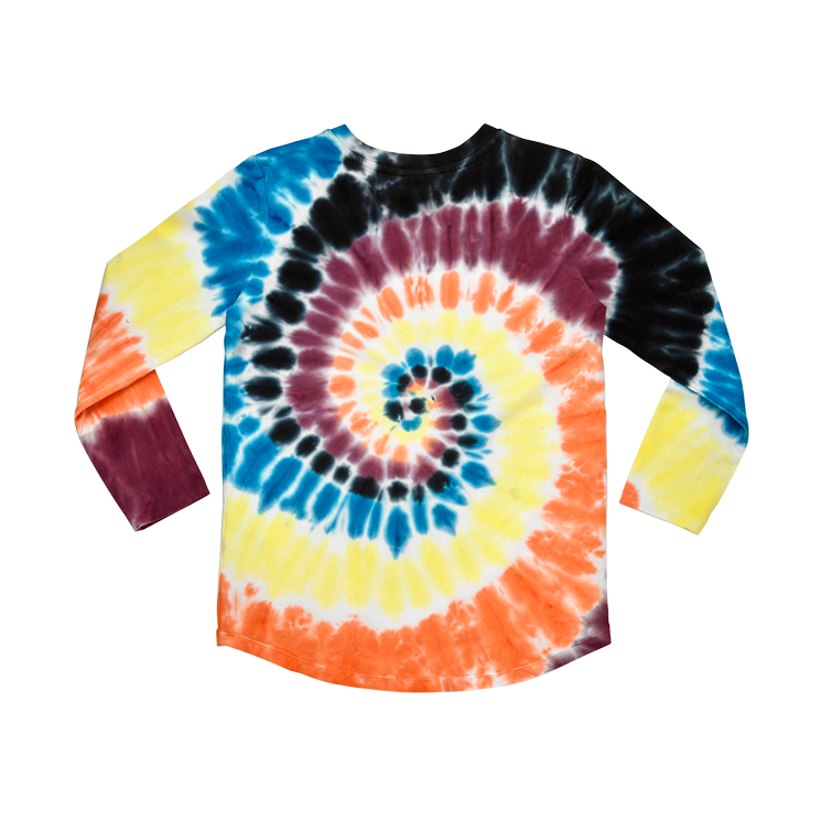 Rock Your Baby long sleeve tie dye kids t-shirt in multi coloured cotton jersey
