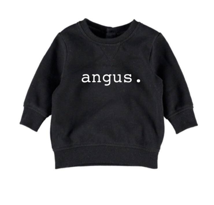 Personalised Name Jumper - Black