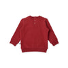 Minti my name is awesome furry baby crew in rusty red cotton fleece