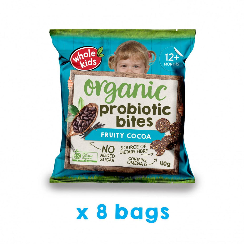 Immunity Snack Bundle - Dino Puffs | Apple ABC Biscuits | Cocoa Probiotic Bites*