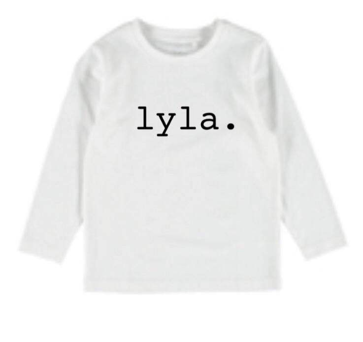 Personalised Name Top - White