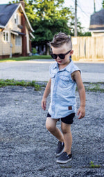 Beau Hudson Sleeveless Chambray Shirt