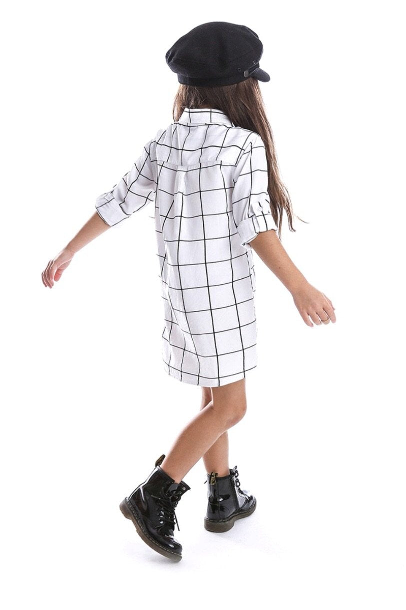Beau Hudson Grid Print Dress