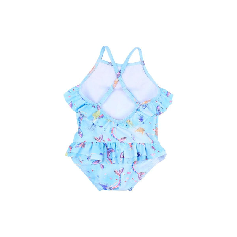 Luna Frill Swimsuit in blue