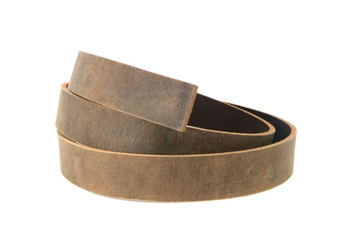 Brown Crazy Horse Leather Strip