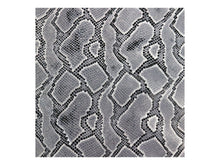 Load image into Gallery viewer, Black & White Embossed Snake Print Leather Pre-Cut Piece