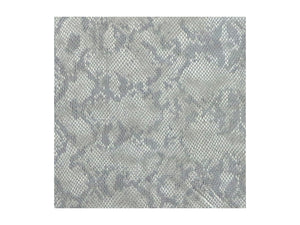 Natural Embossed Snake Print Leather Pre-Cut Piece