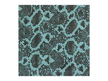 Load image into Gallery viewer, Aqua Teal Python Leather Print Embossed Snake Precut