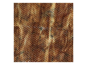 Brown Patent Embossed Snake Print Leather Pre-Cut