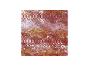 Red Mystic Snake Print Cowhide Leather