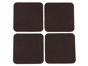 "Matte Brown West Tan Water Buffalo Leather, Square Coaster Shapes, 4""x4"""