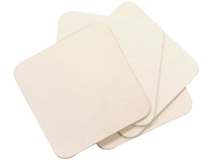 "4"" Square Vegetable Tan Cowhide Leather Shape, Economy"