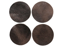 "Load image into Gallery viewer, Chocolate Vintage Glazed Water Buffalo Round Leather Shape, 4""x4"""