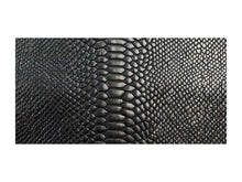 Load image into Gallery viewer, Black Twist Embossed Snake Print Leather Pre-Cut