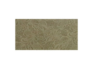 Tan Floral Lace Embossed Cowhide Leather
