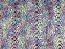 Load image into Gallery viewer, Purple and Turquoise Mystic Python Embossed Snake Print Precut