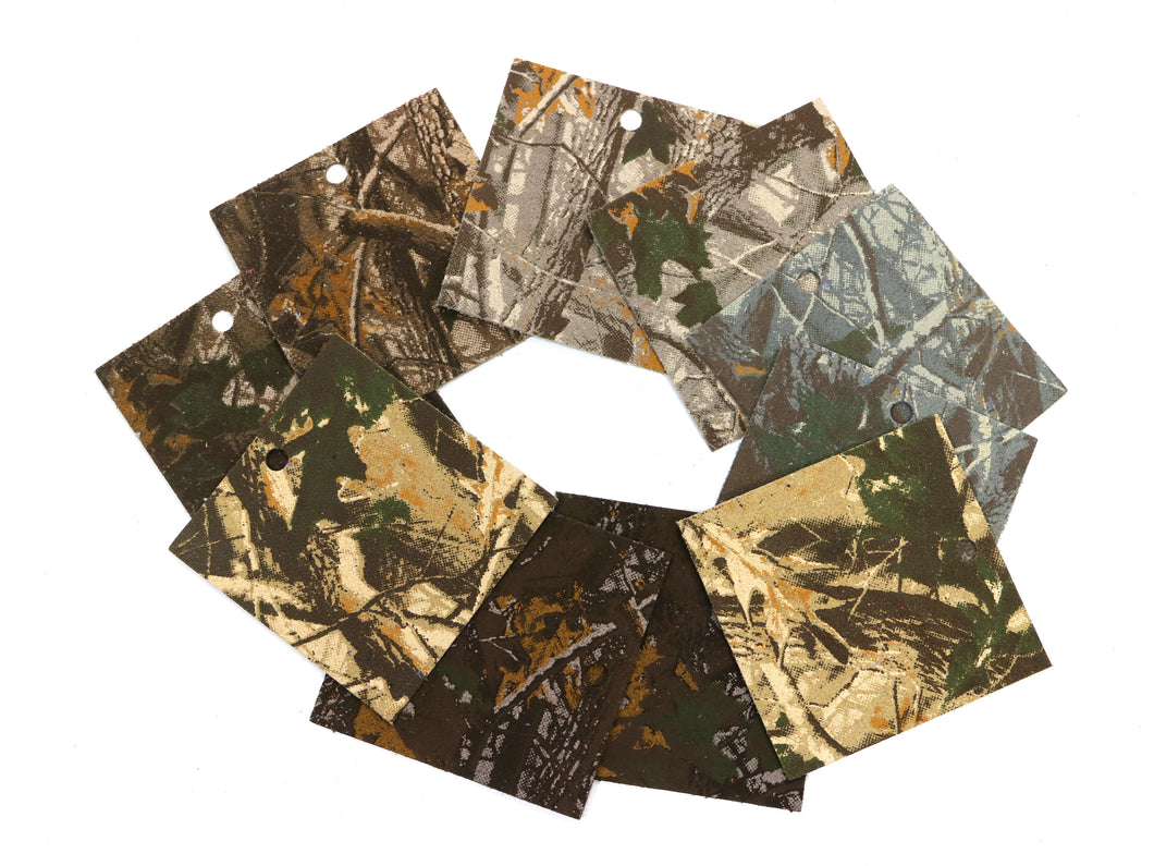 Set of 10 Camo Printed Leather Pieces 3