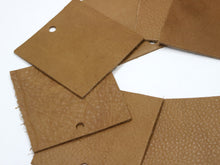 "Load image into Gallery viewer, Set of 10 Brown Upholstery Leather Pieces 3""x3"""