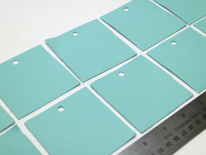 "10 pack of Light Blue 3""x3"" Leather Pieces for Jewelry"