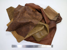 Load image into Gallery viewer, Upholstery Leather Remnants, Premium Mixed Browns