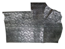Load image into Gallery viewer, Metallic Black and Silver Embossed Snake Print Precut