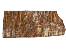 Load image into Gallery viewer, Brown Patent Embossed Snake Print Leather Pre-Cut