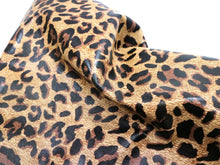 Load image into Gallery viewer, Brown Camel Leopard Embossed & Printed Cowhide Leather