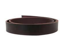 "Load image into Gallery viewer, West Tan Matte Burgundy Buffalo Leather Strip, 48""-60"" in Length, Matte Burgundy"