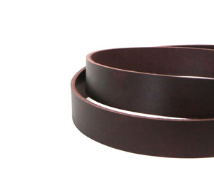 "West Tan Matte Burgundy Buffalo Leather Strip, 48""-60"" in Length, Matte Burgundy"