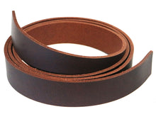 "Load image into Gallery viewer, West Tan Matte Brown Buffalo Leather Strip, 48""- 60"" in Length, Matte Brown"