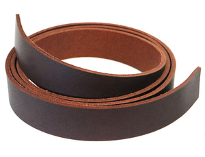 "West Tan Matte Brown Buffalo Leather Strip, 48""- 60"" in Length, Matte Brown"