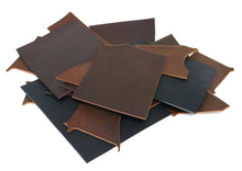 Load image into Gallery viewer, Two Pounds of West Tan Buffalo Leather Scrap