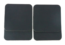 "Load image into Gallery viewer, Matte Black West Tan Water Buffalo Leather, Square Coaster Shapes, 4""x4"""