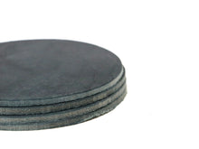 "Load image into Gallery viewer, Navy Crazy Horse Water Buffalo Leather Round Coaster Shapes, 4""x4"""