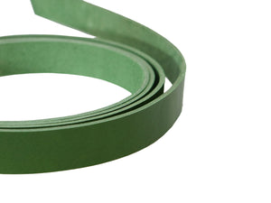"Green Vegetable Tanned Leather Strip, 72"" in Length, Premium Grade Leather"