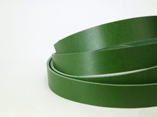 "Load image into Gallery viewer, Green Vegetable Tanned Leather Strip, 72"" in Length, Premium Grade Leather"