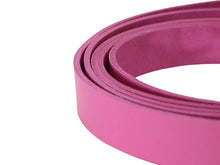 "Load image into Gallery viewer, Pink Vegetable Tanned Leather Strip, 72"" in Length, Premium Grade Leather"