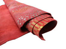 Load image into Gallery viewer, Red Mystic Snake Print Cowhide Leather