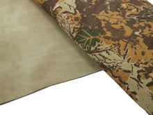 Load image into Gallery viewer, Woodland Camo Embossed Cowhide Leather